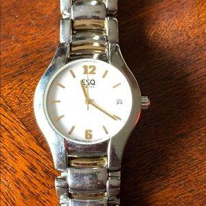 Men's ESQ watch two tone silver/gold SS